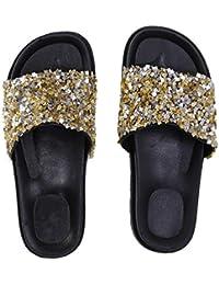 65459ec6fdfd17 Amazon.in  Gold - Flip-Flops   Slippers   Women s Shoes  Shoes ...