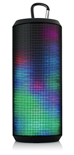 Circle Muze Wireless Bluetooth Speaker / Stereo Speakers / Waterproof IPX4 / Gravity Sensor / Voice Guide / Noise Cancellation / Five Multi-Colored LED Themes / Mobile Hands-Free / Easy Pairing with NFC Smartphone / Micro SD Card Support