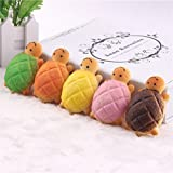 Pizies Squishy Toys,Kawaii Jumbo Slow Rising Squishies,Stress Relief Super Soft Turtle Bread (Random Delivery)