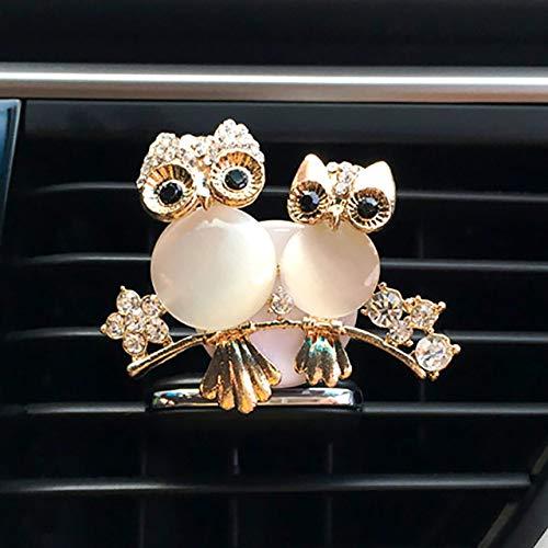 SIOJB Gufi Decor in Auto Deodorante Uscita Automatica Profumo Presa d'Aria Clip Aroma Odore Auto Aroma Diffusore Bling Accessori Auto Auto Doppio Gufo