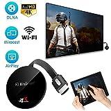 Sponsi WiFi Display Senza Fili Dongle per TV, 2.4G WiFi Dongle HDMI Display Adapter 4K Supporto HD Airplay PC Smartphone iPad TV Miracast Dongle