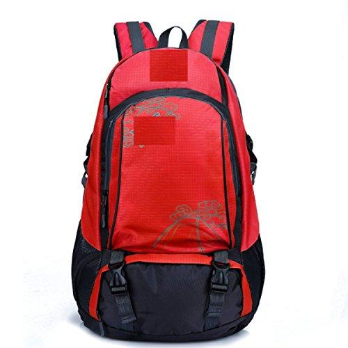 LQABW Professionista Spalla Outdoor Leisure Borsa Uomini E Donne Universale Paio Di Modelli Multi-Purpose Spalla Escursionismo Zaino 40L,Green Red