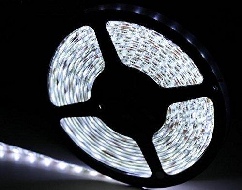Rouleau 5 mètres bande 300 LED 5050 SMD White 5 mt lumière blanche froide pour usage extérieur étanche iP68 pour plongée