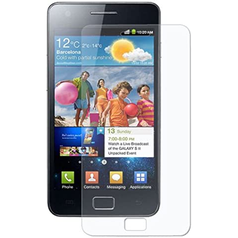 Amzer Anti-Glare - Protector de pantalla con gamuza limpiadora para Samsung Galaxy S II (GT-I9100)