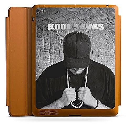 Apple iPad 3 Smart Case Hülle Tasche mit Ständer Smart Cover Kool Savas Fanartikel Merchandise Tot oder Lebendig - Album (Leder Echtes Album)