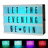 LED-Lichterbox mit Buchstaben, A6 Format, Leuchtkasten mit verschiedenen Farben, Batterien enthalten
