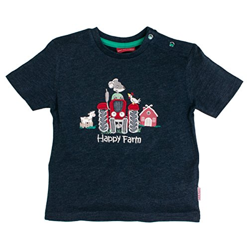 SALT AND PEPPER Baby - Jungen T-Shirt B L. Farm Stick 73212127, Einfarbig, Gr. 86, Blau (denim blue melange 493)