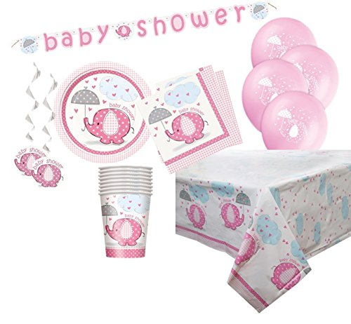 Pink Elefant Baby Dusche Supplies Kit für 8