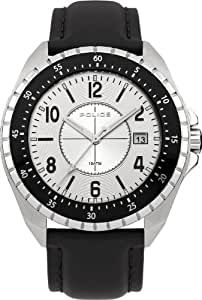 Police Miami Men's Quartz Watch with Silver Dial Analogue Display and Silver Stainless Steel Bracelet 13669JS/04M