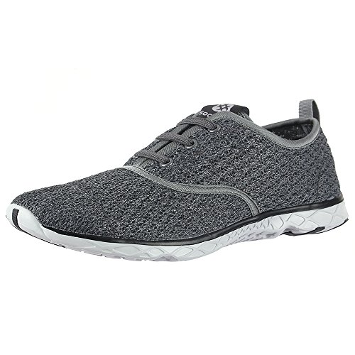 aleader-mens-slip-on-aqua-water-shoes-quick-drying-walking-trainers-gray-9-uk