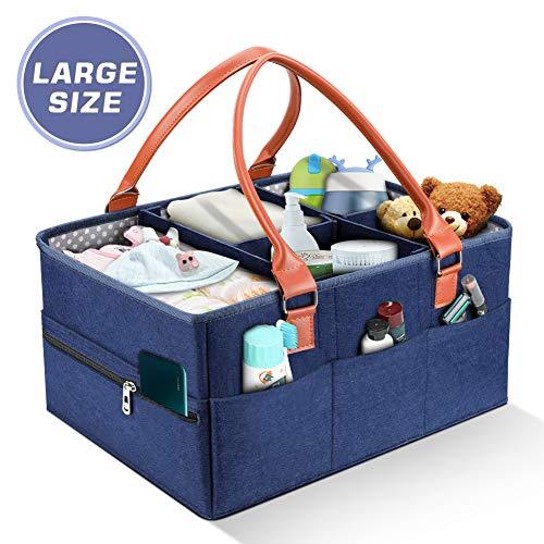 Baby Windel Caddy Organizer Tragbar Baby Windeltaschen Auto Travel Ablagekorb Windeln Aufbewahrungsbox für Windeln, Baby Tücher & Kid Spielzeug-Baby-Dusche-Geschenk-Korb