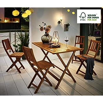 SAM® Table de Jardin Blossom Table de Balcon Bois d\'Acacia ...