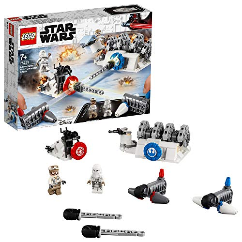 LEGO 75239 Star Wars Action Battle Hoth Generator Attack Target Shooting Set, Episode 5 The Empire Strikes Back, Colourful Best Price and Cheapest