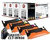 4 Original Reton Toner, kompatibel, nach ( ISO-Norm 19798 ) ersetzt CLT-P406C für Samsung CLP-360 CLP-365 CLP-365W CLX-3300 CLX-3305 CLX-3305FN CLX-3305FW CLX-3305W Xpress C410W Xpress C460FW C460W