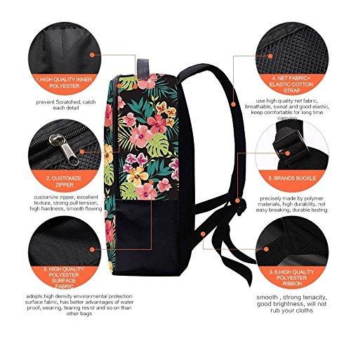 WanYang Hohe Kapazität Mädchen Jungen Blumen Drucken Schultasche Reisetasche Laptops Backpack #�?