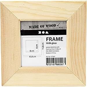 Cadre photo, dim. 11x11 cm, la taille du trou 5,9x5,9 cm, traité, 1pièce