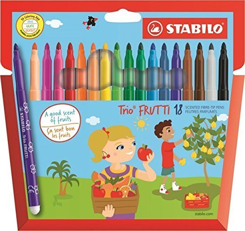 STABILO Trio Frutti Duft Faser Filz Spitze Stifte-Set 18Stück sortiert (290/18-01)