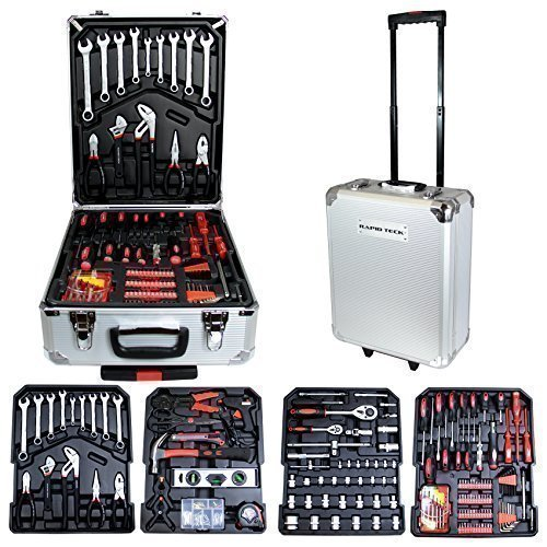 Rapid Teck Alu Werkzeugkoffer 551 tlg Werkzeugset Werkzeugkasten Werkzeugbox Werkzeug Set