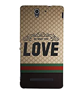 Do Want You Love 3D Hard Polycarbonate Designer Back Case Cover for Sony Xperia C3 Dual D2502 :: Sony Xperia C3 D2533