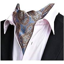 c614cdd17798 YCHENG Uomo Ascot Cravatta di Lusso In Seta Cravatte e papillon Scarf