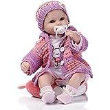 decdeal muñeca bebé niña bebé juguetes para el baño, diseño de cuerpo de silicona ojos abiertos con ropa...