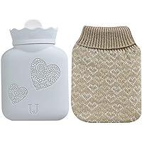 Mikrowellen-Heizungs-Heißwasser-Tasche, Gummi-Heißwasser-Flaschen-Beutel mit Knit-Abdeckung preisvergleich bei billige-tabletten.eu