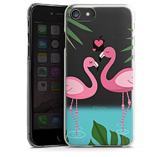 Apple iPhone X Silikon Hülle Case Schutzhülle Motiv ohne Hintergrund Flamingos Love Hard Case transparent