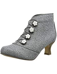 dc7680e0334 Joe Browns Womens Embroidered Floral Button Ankle Boots