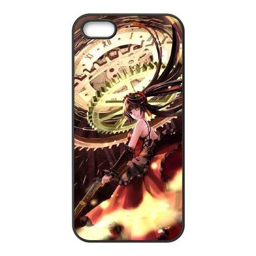 Date A Live coque iPhone 5 5S Housse téléphone Noir de couverture de cas coque EBDXJKNBO14247