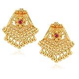 Fashionaya Gold Crown Drop Earrings For ...