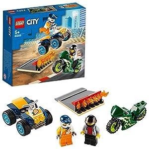 LEGO CityNitroWheels TeamAcrobatico, Playset con Quad ATV, Motocicletta e Rampa di Lancio con Fiamme, 60255 5702016617894 LEGO