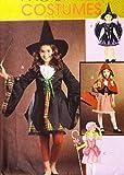 Oop McCall 's Disfraz patrón m5728. Las niñas Szs 7; 8; 10; 12; 14; De Bruja Bo Peep; y caperucita roja disfraces