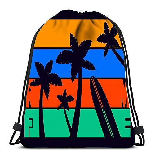 Randell Gym Drawstring Backpack Sport Bag Coach Lightweight Shoulder Bags Travel College Rucksack for Women Men