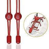 High Pulse® Schnellschnürsystem – Ein Paar Elastische Schnürsenkel mit Schnellverschluss für Einen Perfekten Sitz und Sicheren Halt (Rot)