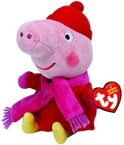 TY Beanie Babies Peppa Schwein Winter UK-exklusiv