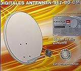 Digitales Antennen Set 80 cm Sat Anlage + Receiver Stahlantenne