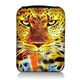 Luxburg® Design Tasche Hülle Sleeve Etui für eBook Reader und Tablet PC bis 7 Zoll, Motiv: Leopard