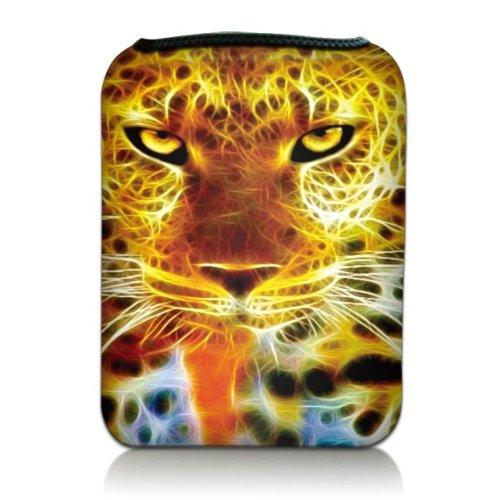 che Hülle Sleeve Etui für eBook Reader und Tablet PC bis 7 Zoll, Motiv: Leopard ()
