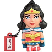 Tribe Warner Bros DC Comics Wonder Woman USB Stick 16GB Pen Drive USB Memory Stick Flash Drive, Gift Idea 3D Figure, PVC USB Gadget with Keyholder Key Ring – Multicolor