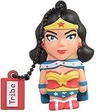 Tribe Warner Bros DC Comics Wonder Woman Clé USB 16 Go Fantaisie Pendrive USB Flash Drive 2.0 Originale Stockage Memoire, Idee Cadeau Figurine 3D, Stockage USB en PVC avec Porte-Clés – Multicolore