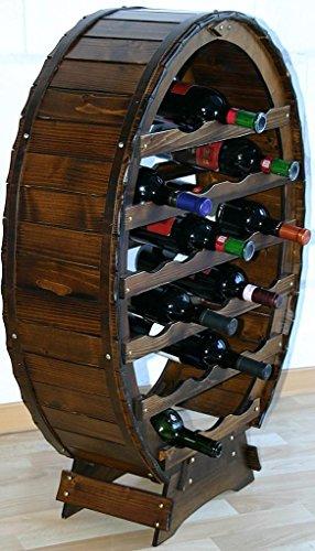 Massivholz Weinregal Flaschenregal Weinfass 24 Flaschen Holz Fichte massiv kolonial