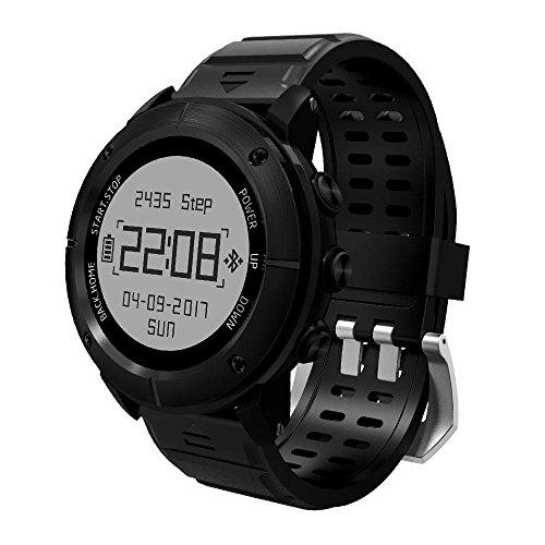 KOBWA GPS Smart Watch, Bluetooth Wasserdicht Adventurer Outdoor Smart Sport Uhr für Herren Triathlon Schwimmen Klettern Wandern Radfahren und Laufen