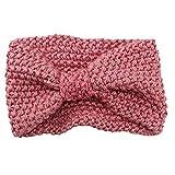 Damen Gestrickt Stirnband Häkelarbeit Schleife Design Winter Kopfband Haarband