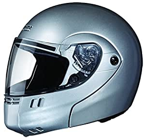 Studds Ninja 3G Economy Full Face Helmet (Silver Grey, L)