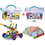 YEWJ Niños bloques de construcción de copo de nieve, Bloque de construcción de bloqueo de jardín de infancia, Manual de niños Cerebro juguetes educativos juguete ( Color : 2 Sets Of Elbow )