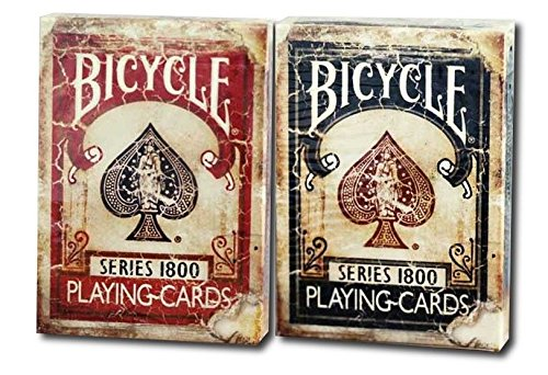 cartes-a-jouer-bicycle-1800-vintage-series-2-deck-set-deck-ellusionist-1-rouge-1-bleu-bicycle-1800-v