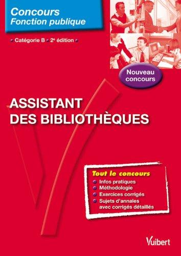 Assistant des bibliothèques, catégorie B