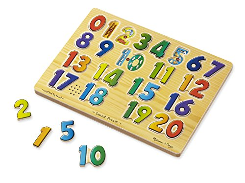 Melissa & Doug Learn Your Numbers Wooden Sound Puzzle