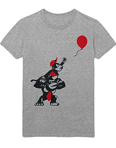 Kong Diddy Kostüm - T-Shirt Donkey Kong and Diddy Kong Balloon H100026 Grau XXL