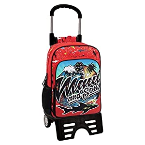Maui Beach Mochila Escolar, 15.6 litros, Color Rojo